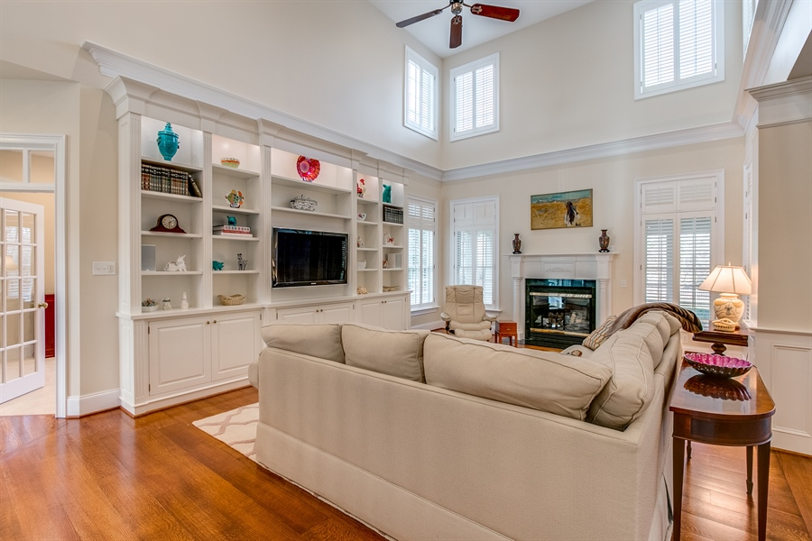 Real Estate Photography - 400 Woodale Dr, Kennett Square, PA, 19348 - Family Room with Custom Built-in's