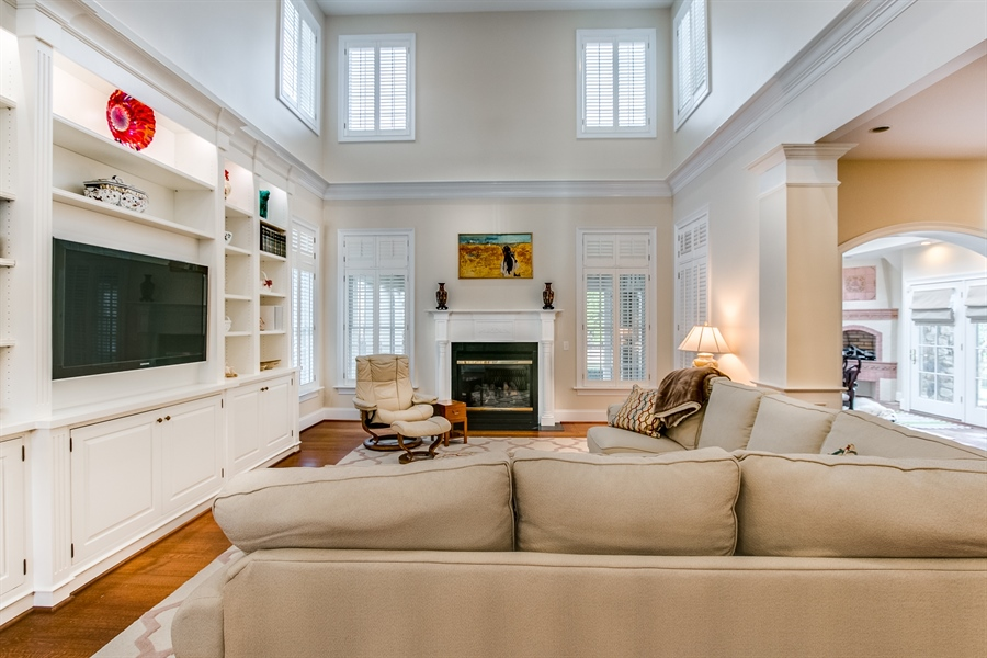 Real Estate Photography - 400 Woodale Dr, Kennett Square, PA, 19348 - Family Room with Fireplace