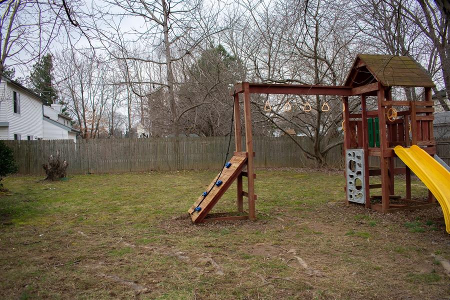 Real Estate Photography - 1267 S Farmview Dr, Dover, DE, 19904 - Backyard Swingset