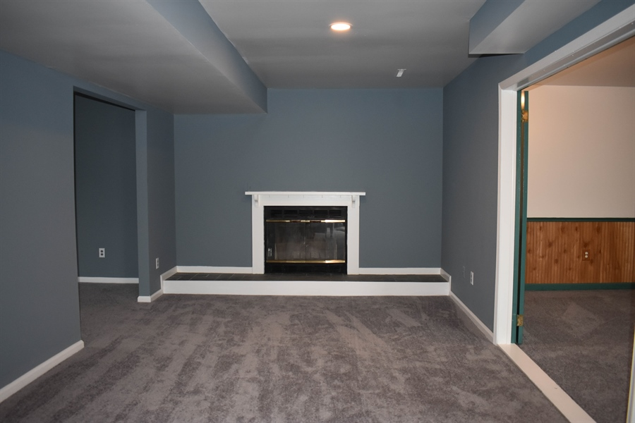 Real Estate Photography - 1267 S Farmview Dr, Dover, DE, 19904 - Family Room Fireplace
