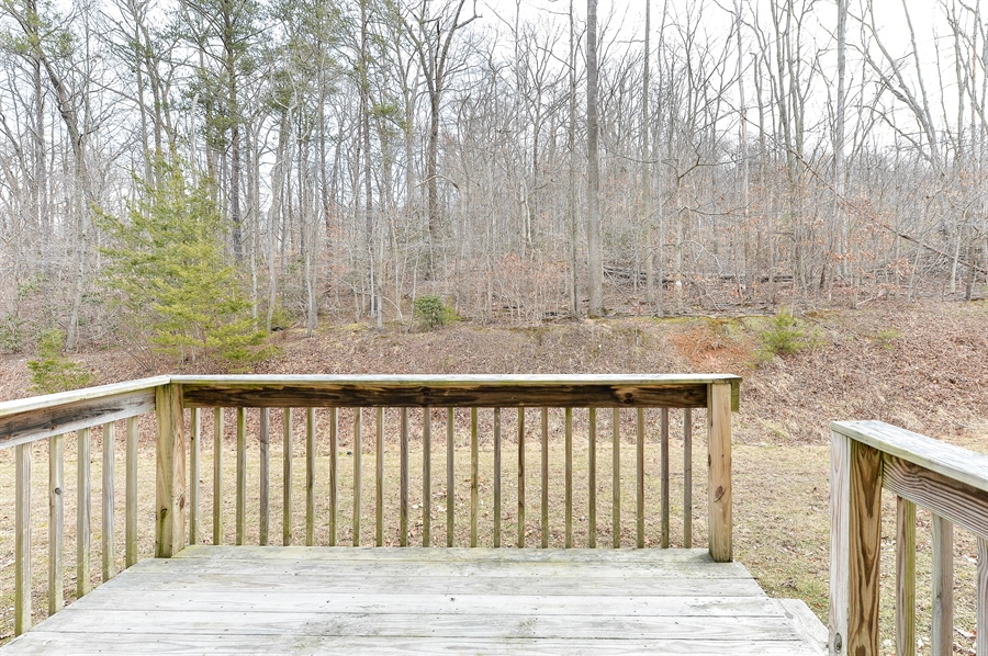 Real Estate Photography - 149 Ben Boulevard, Elkton, DE, 21921 - Deck with steps to yard, perfect for a gas grill