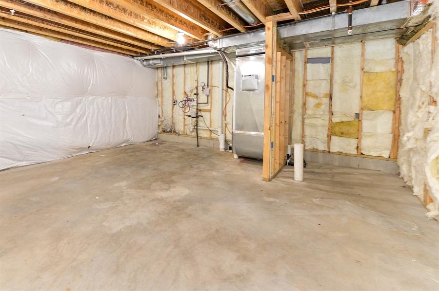 Real Estate Photography - 149 Ben Boulevard, Elkton, DE, 21921 - Unfinished area, laundry, future bath plumbed