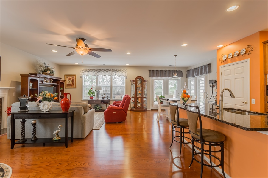 Real Estate Photography - 110 Emilys Pintail Dr, Bridgeville, DE, 19933 - KITCHEN AND GREAT ROOM