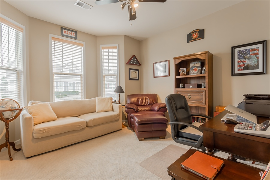 Real Estate Photography - 110 Emilys Pintail Dr, Bridgeville, DE, 19933 - BEDROOM 3 BEING USED AS AN OFFICE