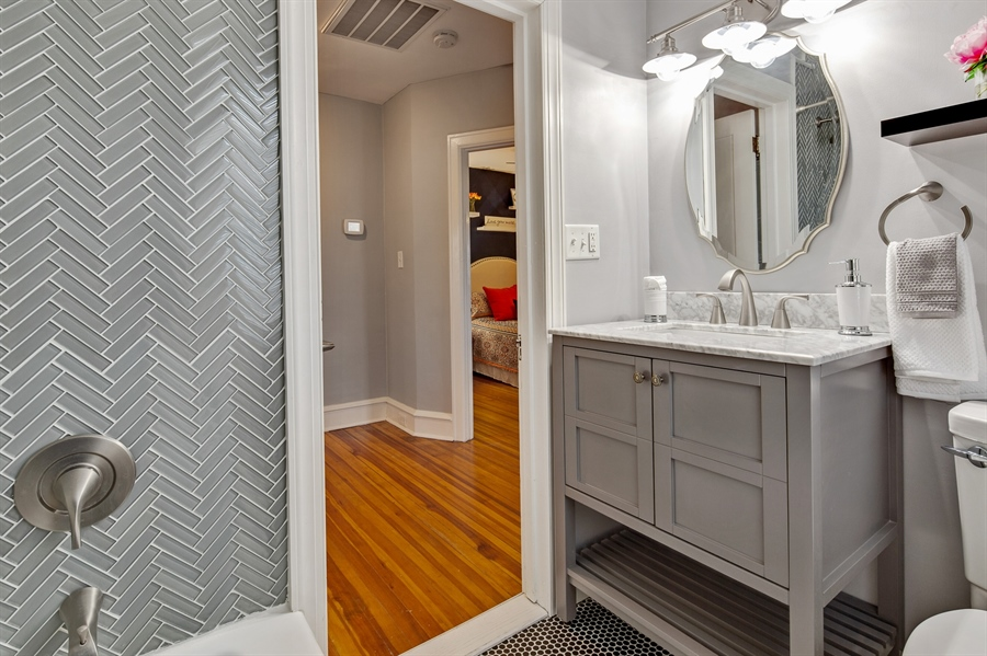 Real Estate Photography - 1324 Shallcross Ave, Wilmington, DE, 19806 - Updated finishes in full bathroom