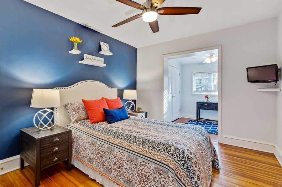 Real Estate Photography - 1324 Shallcross Ave, Wilmington, DE, 19806 - Master suite with wood floors