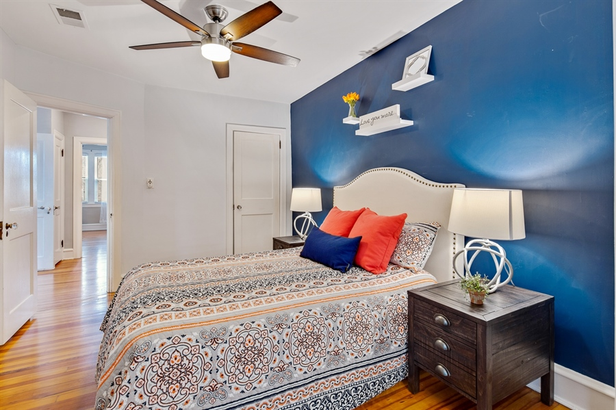 Real Estate Photography - 1324 Shallcross Ave, Wilmington, DE, 19806 - Master bedroom includes ceiling fan