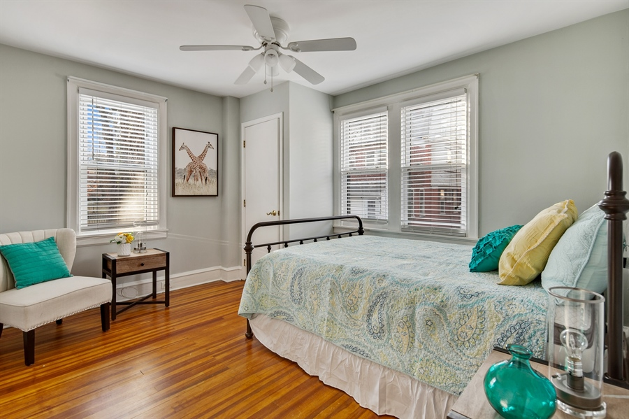 Real Estate Photography - 1324 Shallcross Ave, Wilmington, DE, 19806 - Bedroom #2 with wood floors
