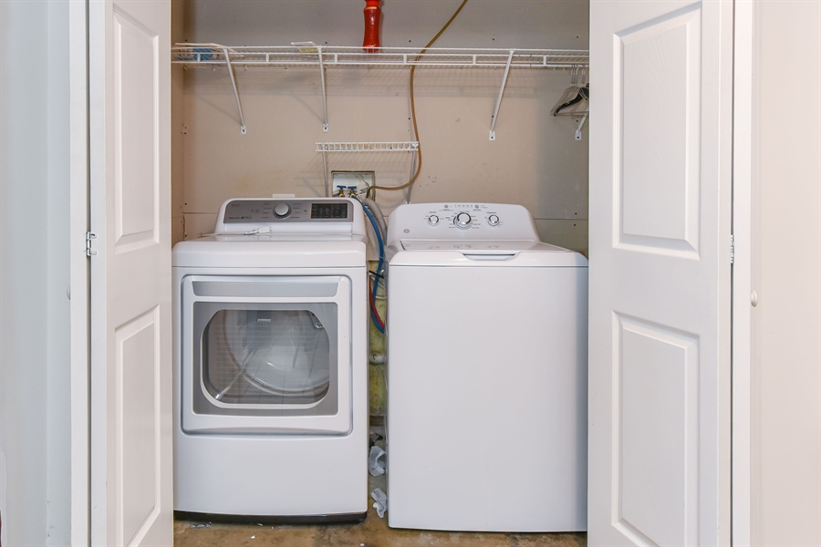 Real Estate Photography - 51 Mule Deer Ct, Elkton, MD, 21921 - Lower level laundry, washer & dryer new in 2017
