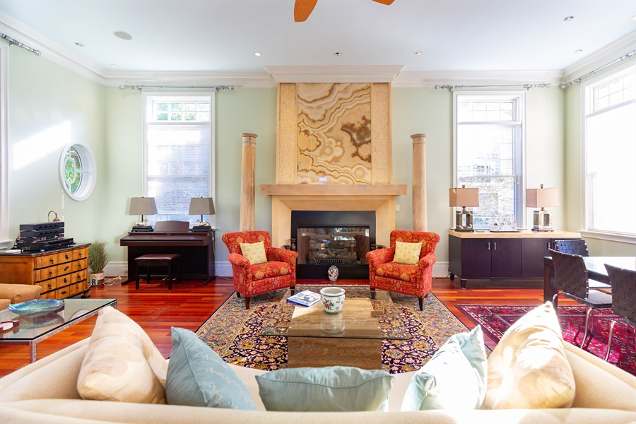 Real Estate Photography - 703 Scarborough Ave, Rehoboth Beach, DE, 19971 - Stunning Fireplace in Great Room