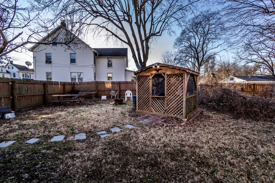 Real Estate Photography - 229 W Main St, Elkton, MD, 21921 - Side Yard w/Screeded Gazebo