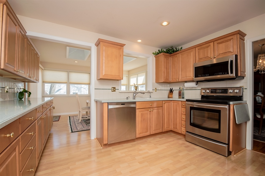 Real Estate Photography - 947 Rahway Dr, Newark, DE, 19711 - Spiced Maple Cabinets