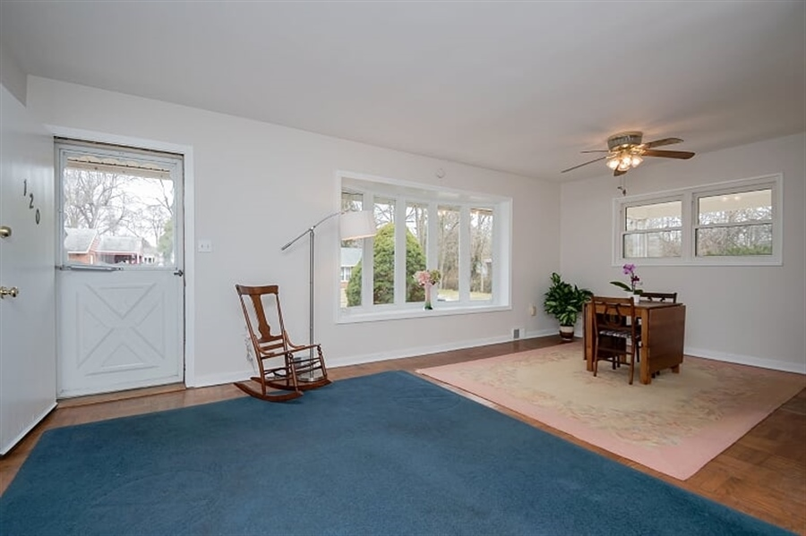 Real Estate Photography - 120 Carlie Rd, Wilmington, DE, 19803 - Living Room and Dining Room Areas