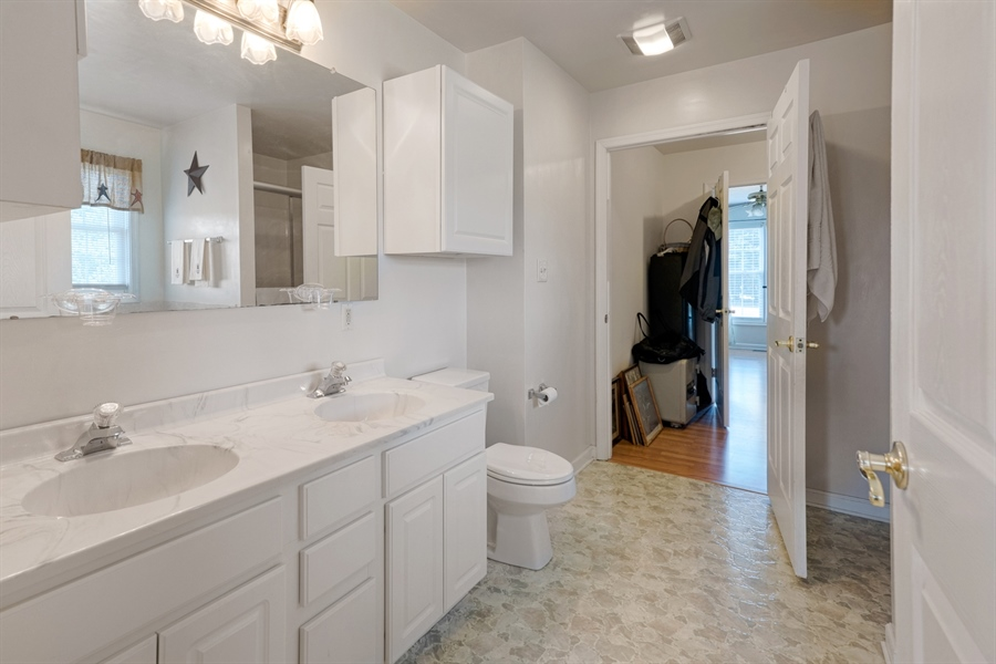 Real Estate Photography - 70 Stoney Battery Rd, Earleville, MD, 21919 - MASTER BATH, DUAL VANITIES