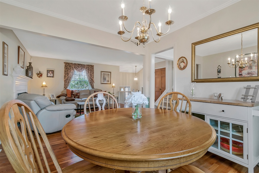 Real Estate Photography - 2500 Turnstone Dr, Wilmington, DE, 19805 - Formal Dining Room With Crown Molding/Chair Rail