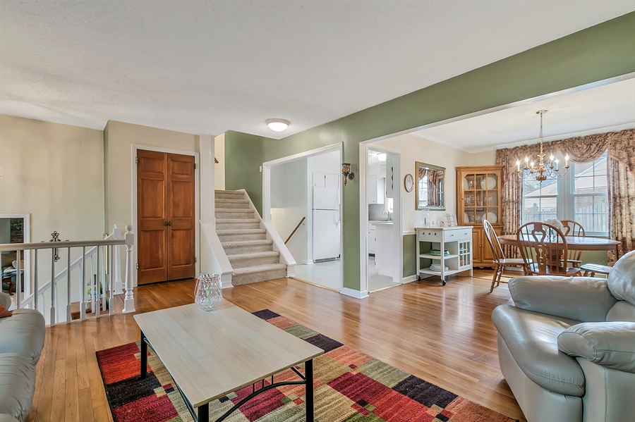 Real Estate Photography - 2500 Turnstone Dr, Wilmington, DE, 19805 - Kitchen Into Dining And Living Rooms...Convenient!