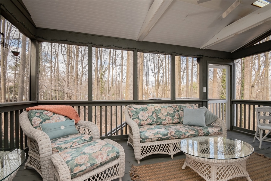 Real Estate Photography - 20 Forest Rdg, Newark, DE, 19711 - Screened Porch