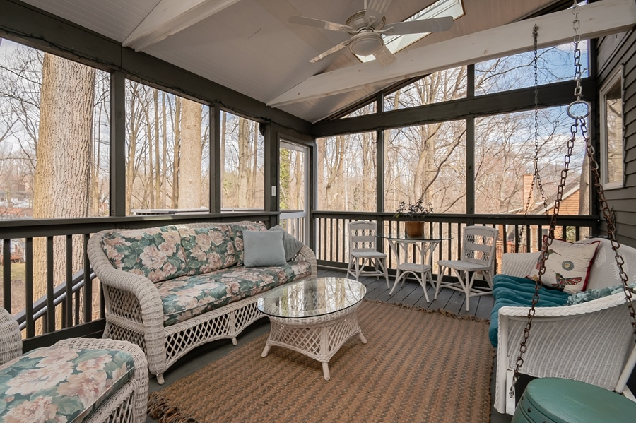 Real Estate Photography - 20 Forest Rdg, Newark, DE, 19711 - Swing on Porch