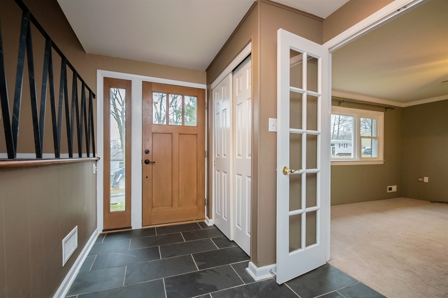 Real Estate Photography - 103 Compass Dr, Claymont, DE, 19703 - Slate Flooring in Entry Foyer