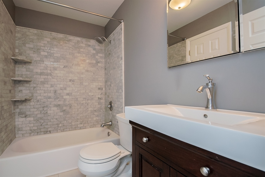 Real Estate Photography - 103 Compass Dr, Claymont, DE, 19703 - Fully Refinished Full Bath