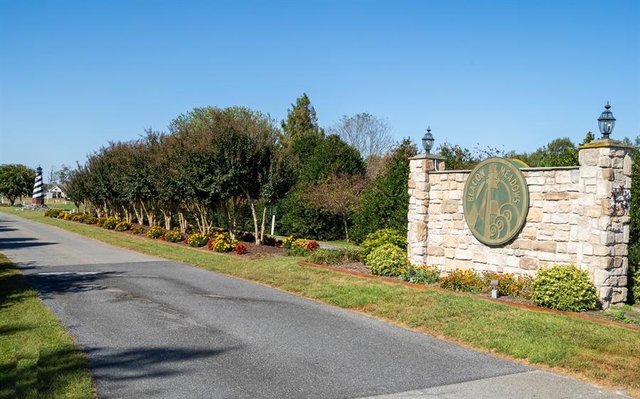 Real Estate Photography - 3 Beacon Cir, Millsboro, DE, 19966 - Entrance to Beacon Meadows