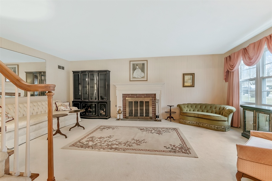 Real Estate Photography - 26 N Cliffe Dr, Wilmington, DE, 19809 - Generous Living Room with Triple Window