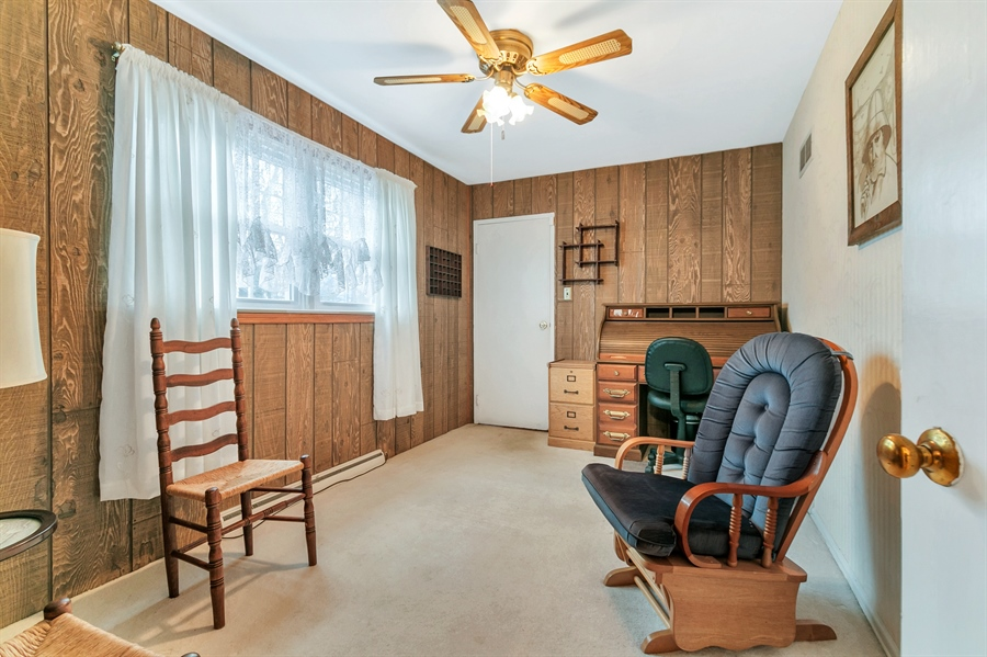 Real Estate Photography - 26 N Cliffe Dr, Wilmington, DE, 19809 - Office Features Large Windows And Ceiling Fan