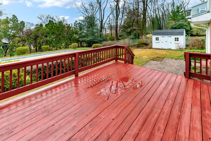 Real Estate Photography - 26 N Cliffe Dr, Wilmington, DE, 19809 - Another Deck View
