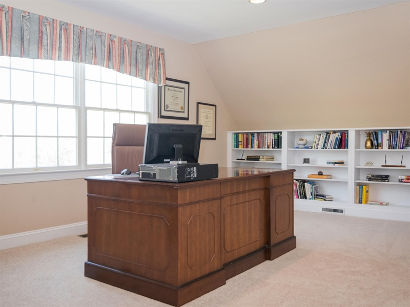 Real Estate Photography - 1110 Alexander Ln, West Chester, PA, 19382 - Office in Master Bedroom