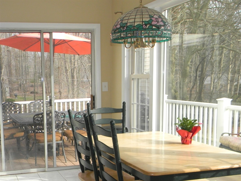 Real Estate Photography - 4 N Parkway, Elkton, MD, 21921 - Sliding Doors Kitchen to Deck