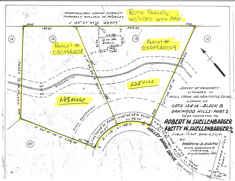 Real Estate Photography - 3804 Valley Brook Dr, Wilmington, DE, 19808 - Extra 1.43 Acre Lot Included
