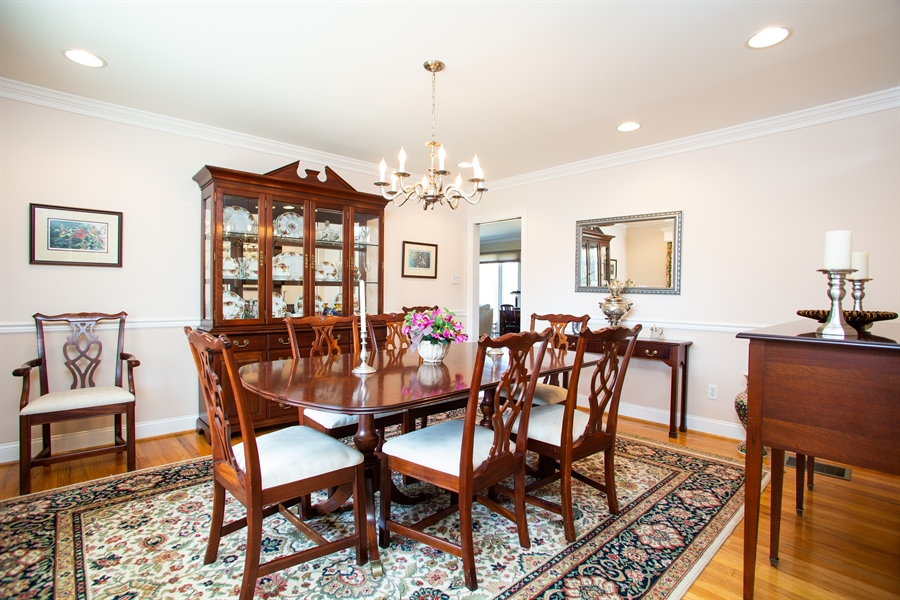 Real Estate Photography - 3804 Valley Brook Dr, Wilmington, DE, 19808 - Dining Room
