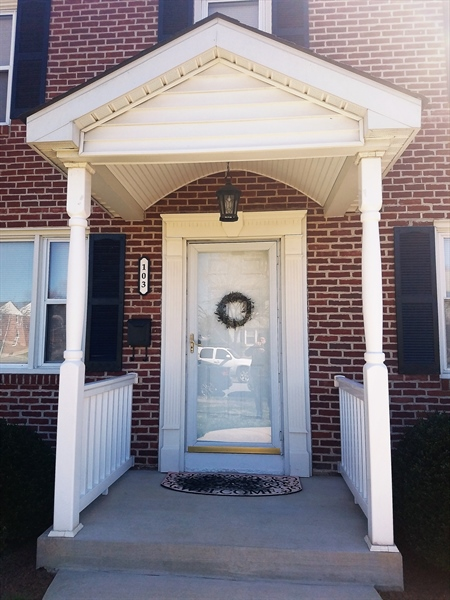 Real Estate Photography - 103 Sandra Rd, Wilmington, DE, 19803 - Portico welcoming you
