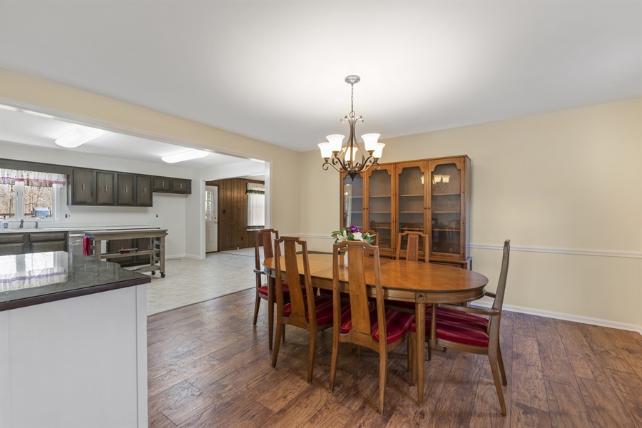 Real Estate Photography - 60 Filbert Ln, Elkton, MD, 21921 - OPEN DINING TO KITCHEN