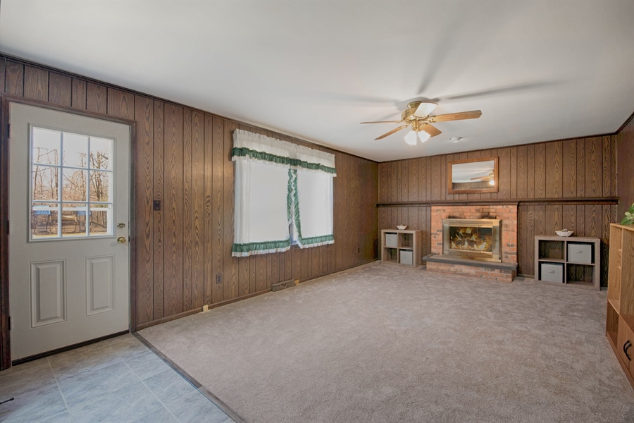 Real Estate Photography - 60 Filbert Ln, Elkton, MD, 21921 - FAMILY ROOM WITH BRICK FIREPLACE