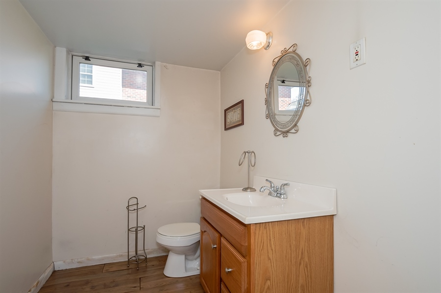 Real Estate Photography - 2415 W Eric Dr, Wilmington, DE, 19808 - Powder room in basement