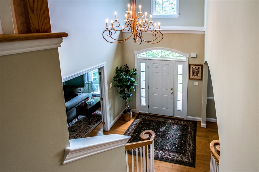 Real Estate Photography - 131 Viburnum Dr, Kennett Square, PA, 19348 - Foyer View From Upper Level
