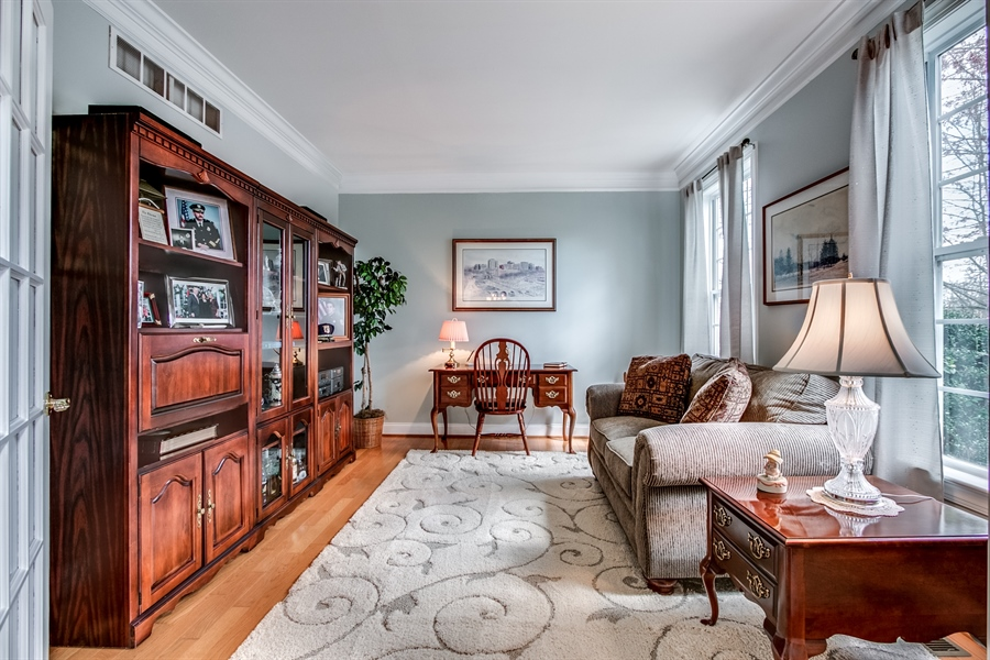 Real Estate Photography - 131 Viburnum Dr, Kennett Square, PA, 19348 - Attractive Study or Living Room... Your Choice!
