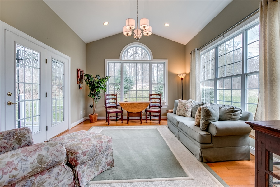 Real Estate Photography - 131 Viburnum Dr, Kennett Square, PA, 19348 - Bright Charming Sun Room