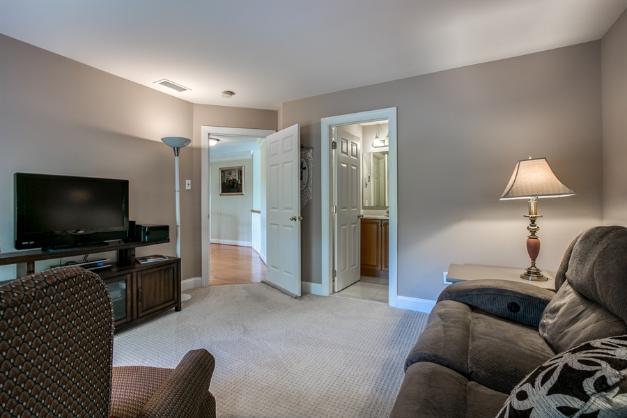 Real Estate Photography - 131 Viburnum Dr, Kennett Square, PA, 19348 - Princess Suite (Currently A Media Room)