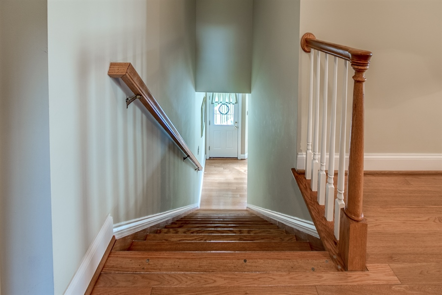 Real Estate Photography - 131 Viburnum Dr, Kennett Square, PA, 19348 - Back Staircase