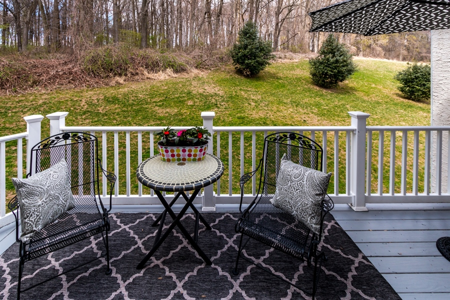 Real Estate Photography - 131 Viburnum Dr, Kennett Square, PA, 19348 - Nice Wooded View From The Deck