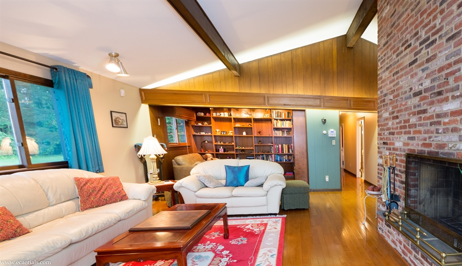 Real Estate Photography - 25 N Rosemont Cir, Elkton, MD, 21921 - LIVING ROOM open to LIBRARY