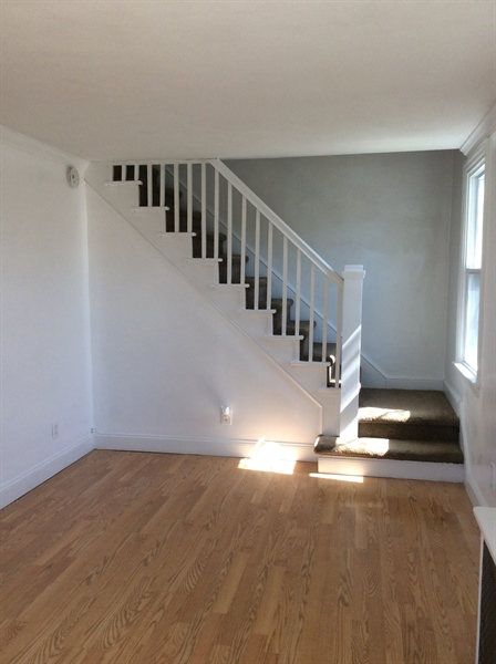 Real Estate Photography - 2000 Lincoln Ave, Wilmington, DE, 19809 - Staircase to Living Rm
