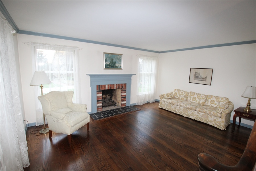 Real Estate Photography - 321 E 14th St, New Castle, DE, 19720 - Living room with gas fireplace