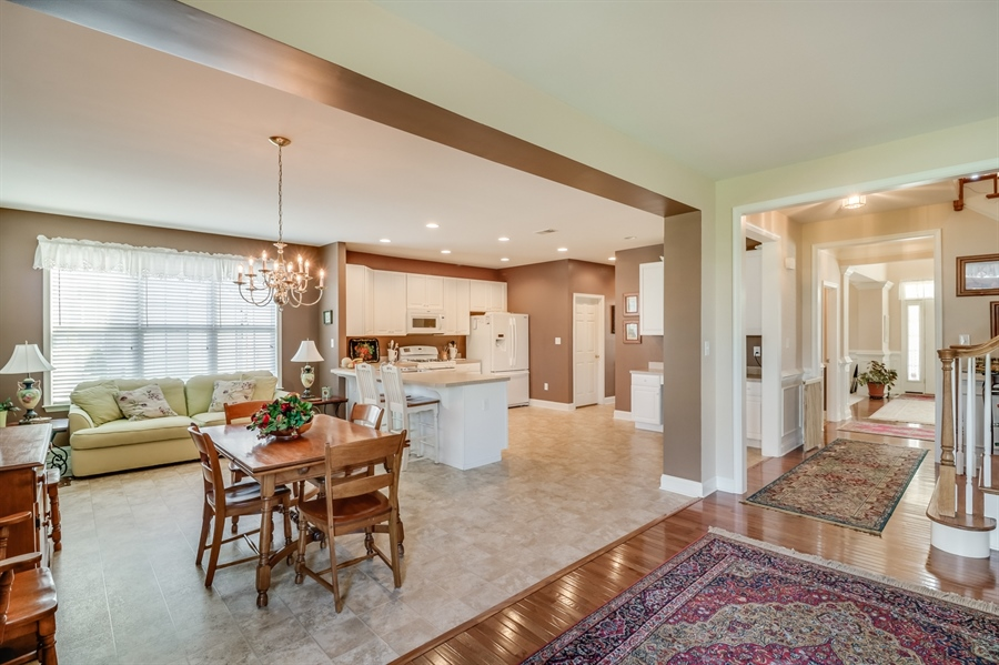 Real Estate Photography - 322 Ellenwood Dr, Middletown, DE, 19709 - Open Concept Family Room and Kitchen