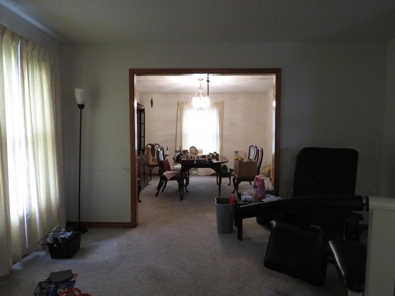 Real Estate Photography - 14 Springwood Dr, Dover, DE, 19904 - Formal Dining Room off of Formal Living Room