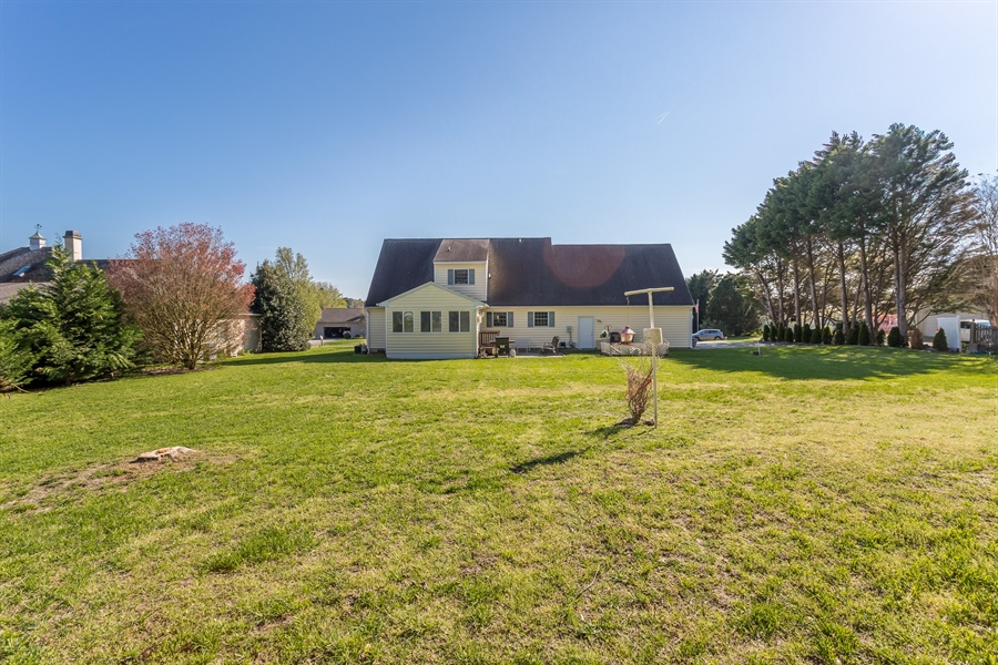 Real Estate Photography - 32492 Mariners Way, Millsboro, DE, 19966 - Spacious and private rear yard