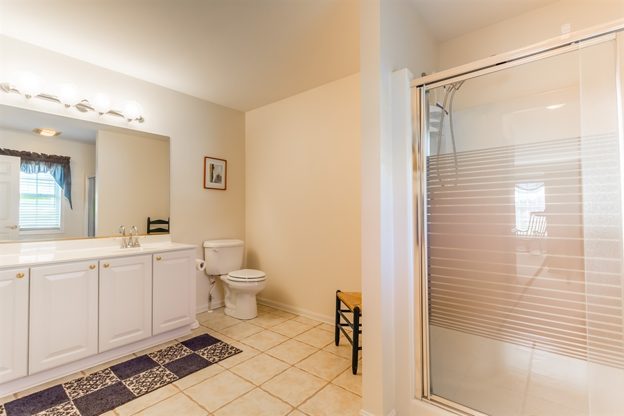 Real Estate Photography - 32492 Mariners Way, Millsboro, DE, 19966 - First floor owner's full bath with shower