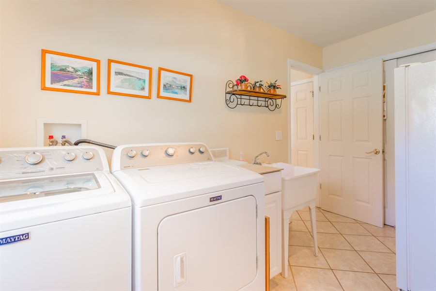Real Estate Photography - 32492 Mariners Way, Millsboro, DE, 19966 - Large laundry room with wash basin